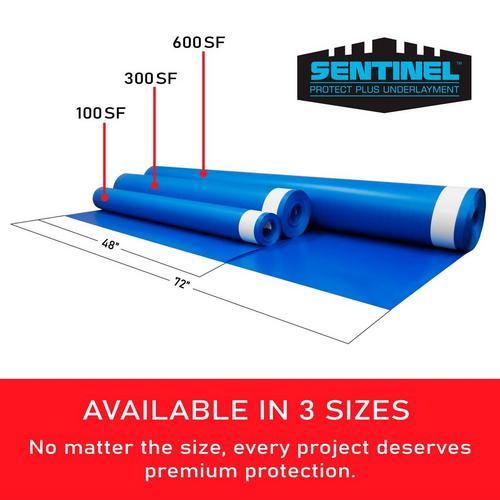 Sentinel Protect Plus Underlayment, Moisture Barrier Under Laminate Flooring