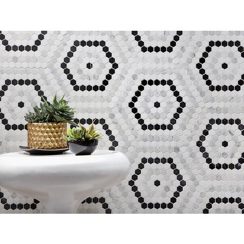 Cafe Du Monet Hexagon Polished Marble Mosaic 13 X 13 100609635 Floor And Decor