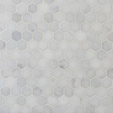 Carrara Chateau 2 In Hexagon Tumbled Marble Mosaic 11 X 12 100702000 Floor And Decor