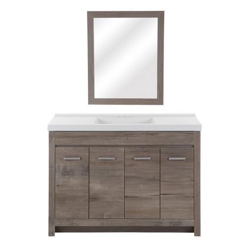 Oslo 48 In Washed Oak Vanity 48in, 48 X 19 Bathroom Vanity
