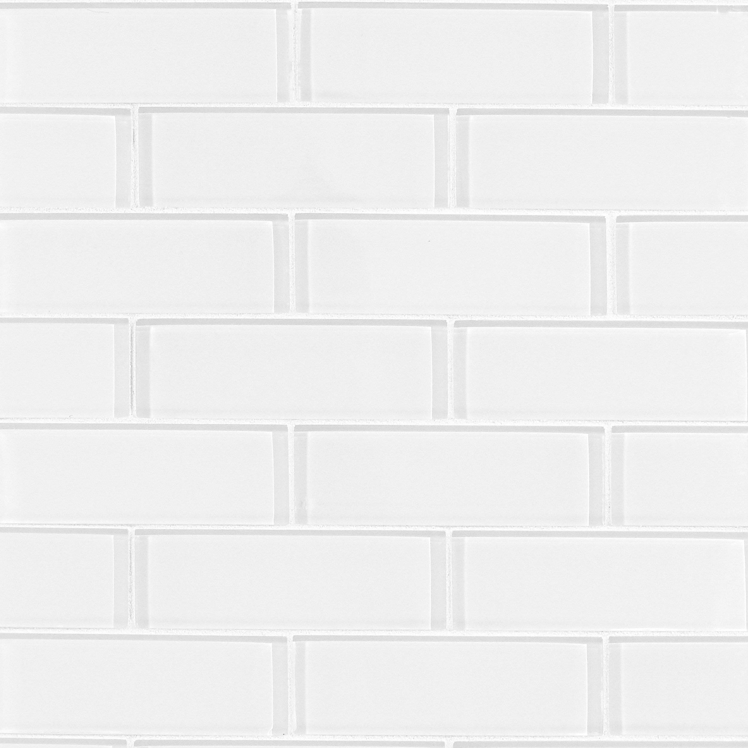 Brick Misty 3 X 6 Polished Porcelain Mosaic 12 X 12 100840040 Floor And Decor