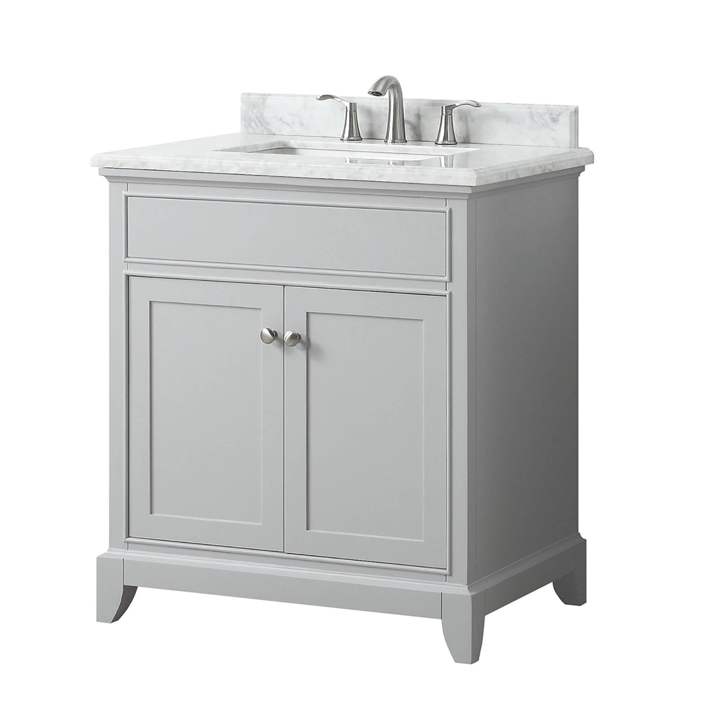 Aurora 25 In Vanity With Carrara Marble Top 25in 100821453 Floor And Decor