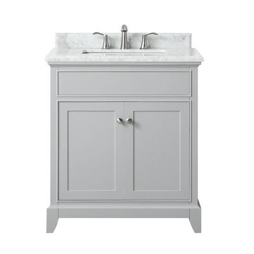 Aurora 31 In Vanity With Carrara Marble Top 31in 100821461 Floor And Decor