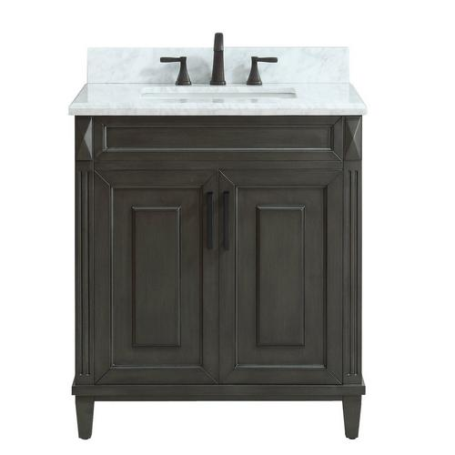 Sterling 31 In Vanity With Carrara Marble Top 31in 100821529 Floor And Decor