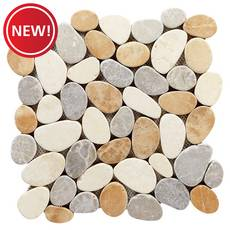 New! Malta Tumbled Pebble Mosaic