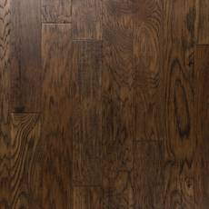 Medium Brown Hickory Hand Scraped Engineered Hardwood