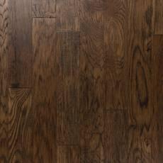 Medium Brown Hickory Hand Scraped Engineered Hardwood