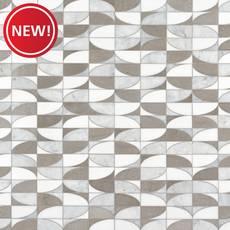 New! Mila Thassos Carrara Marble Mosaic