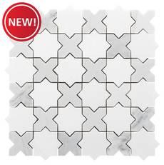 New! Jigsaw Bianco Carrara Marble Mosaic