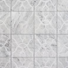 Trellis Carrara Polished Marble Tile