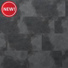 New! Modern Graphite Rigid Core Luxury Vinyl Tile - Foam Back