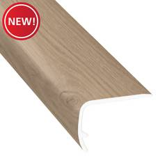 New! Carmel Ash 72in. Vinyl Overlapping Stair Nose
