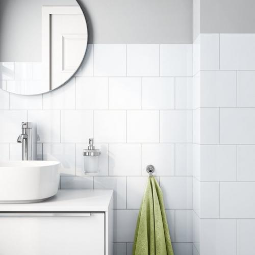 Bright White Ice Ceramic Wall Tile 6 X 6 914100889 Floor And Decor