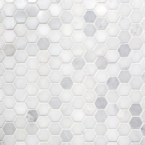 Carrara White Hexagon Marble Mosaic