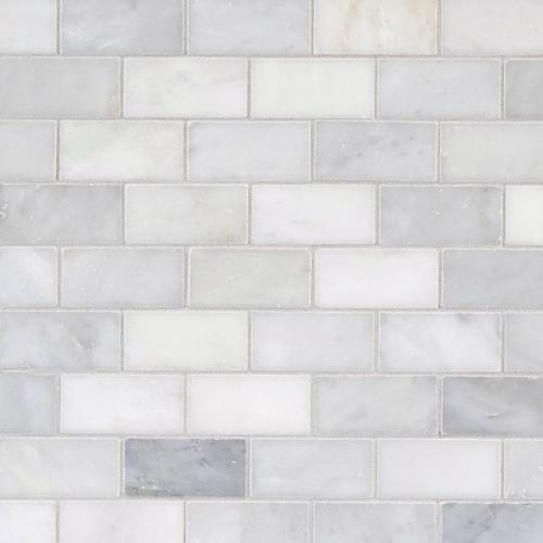 Carrara White Brick Marble Mosaic 12 X 12 931100241 Floor And Decor