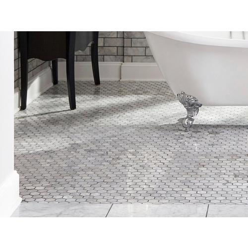 Bianco Carrara Hexagon Polished Marble