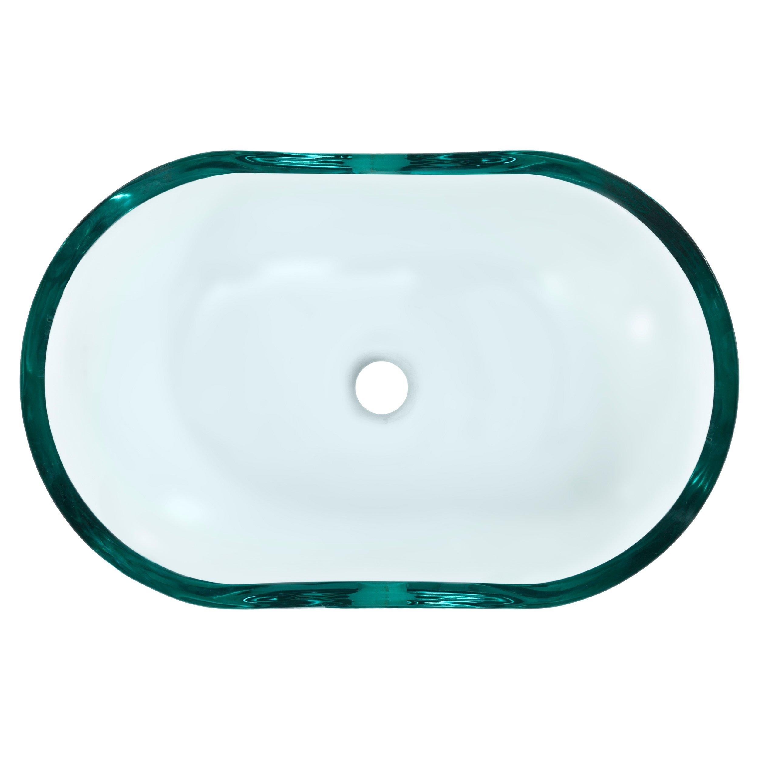 Square Basin Glass Vessel Sink 14 X 23 937400126 Floor And Decor