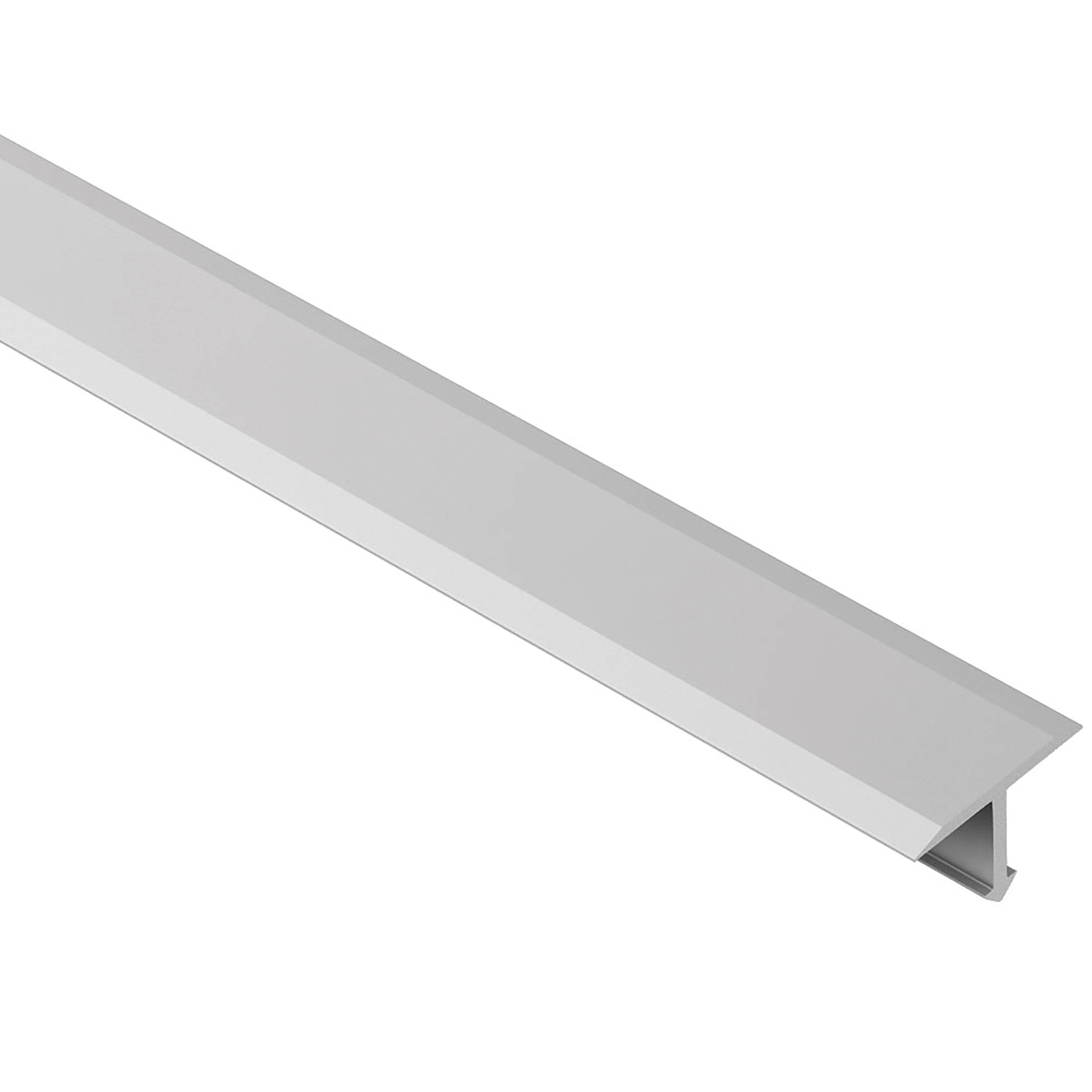 Schluter Reno Tk Satin Anodized Aluminum 1 2 In X 8 Ft 2 1 2 In Metal Reducer Tile Edging Trim 1 2in 951500190 Floor And Decor