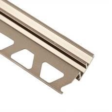 Schluter-Reno-U Transition Profile 1/2in. in Satin Nickel Anodized Aluminum