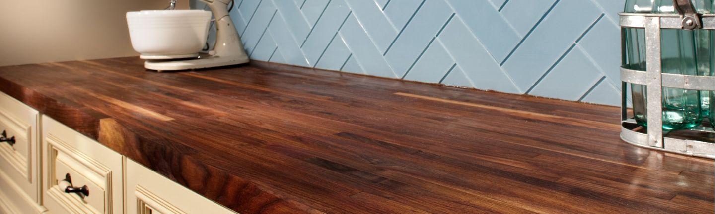 Prefab Stone Wood Countertops Floor