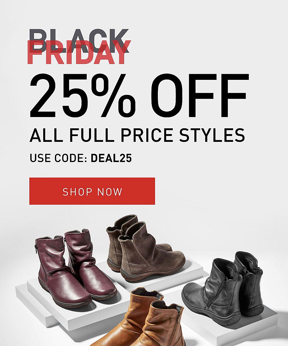 Black Friday 25% OFF Boots