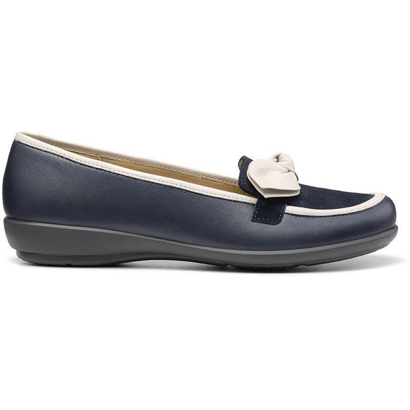 Retro Vintage Flats and Low Heel Shoes Amalie Shoes - Navy  Soft Beige Standard Fit 11 $135.00 AT vintagedancer.com