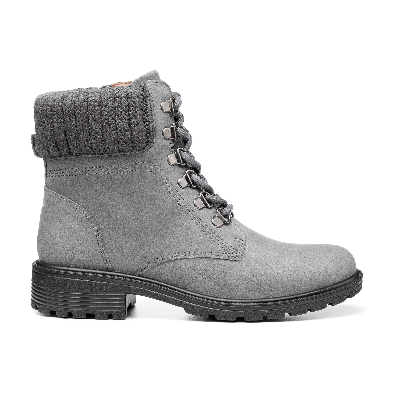 70s Shoes, Platforms, Boots, Heels | 1970s Shoes Blenheim II Boots - Smokey Grey - Standard Fit - 9 £129.00 AT vintagedancer.com