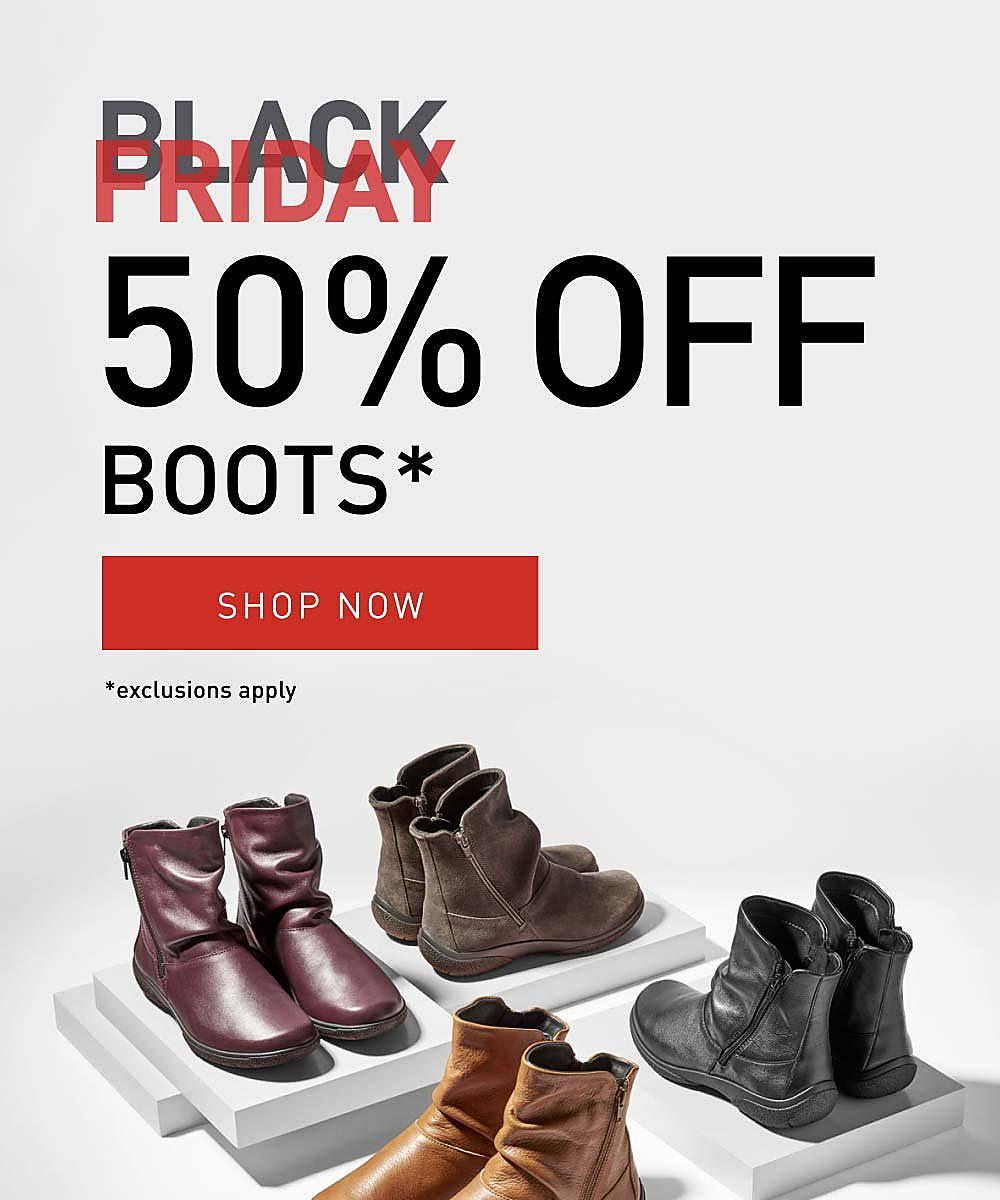 Black Friday 50% Off Boots