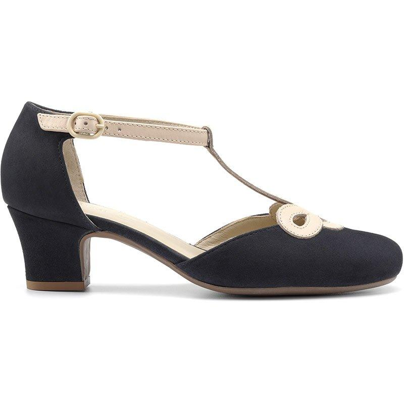 Vintage Heels, Retro Heels, Pumps, Shoes Darcy Heels - Navy Multi Standard Fit 11 $139.00 AT vintagedancer.com