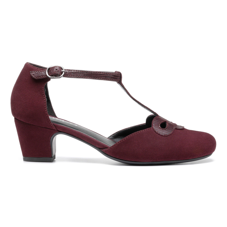 1950s Style Shoes | Heels, Flats, Boots Darcy Heels - Wine  Lizard Standard Fit 7 $139.00 AT vintagedancer.com