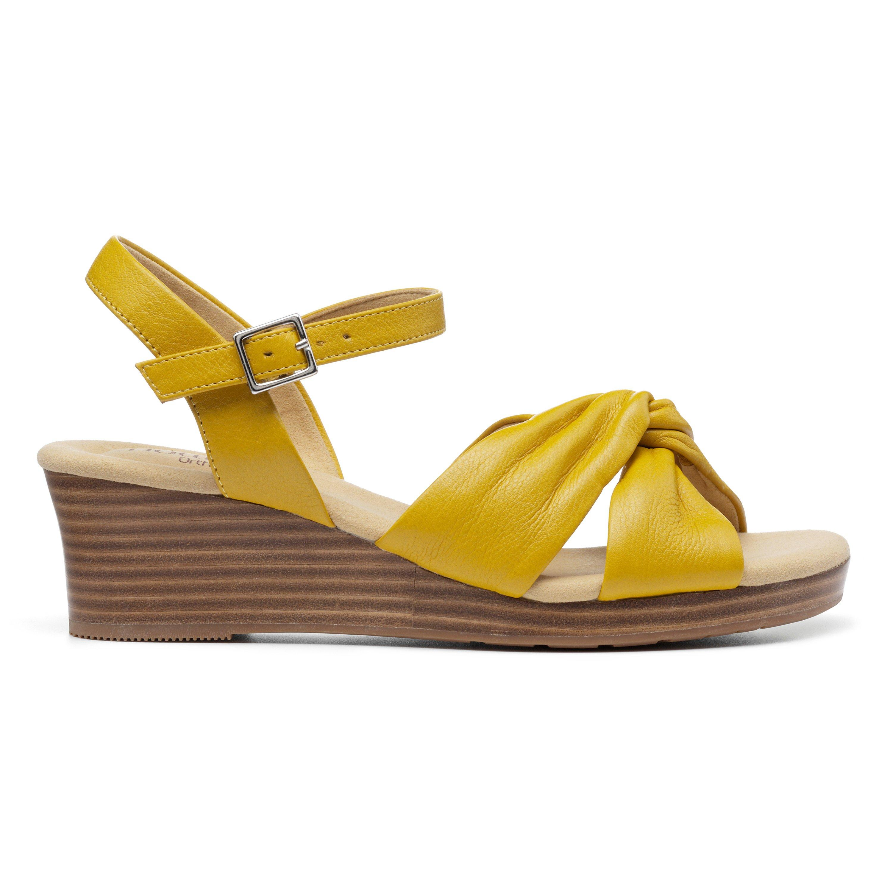 70s Outfits – 70s Style Ideas for Women Java Sandals - Yellow Standard Fit 11 $125.00 AT vintagedancer.com