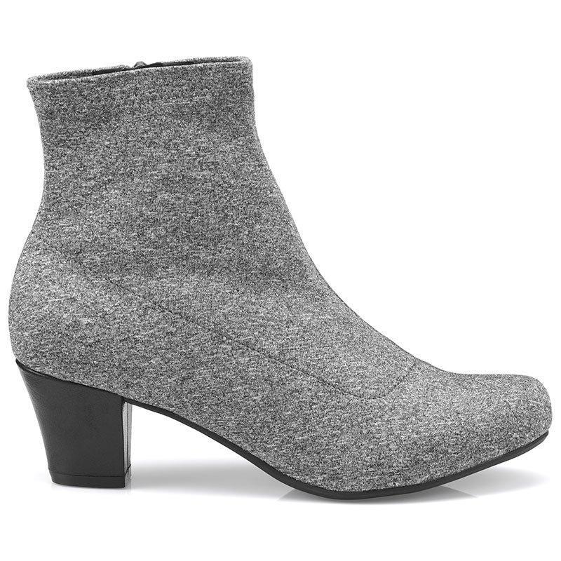 60s Shoes, Go Go Boots Joy Boots - Grey Tonal Standard Fit 8.5 $139.00 AT vintagedancer.com