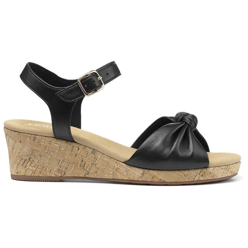 Vintage Sandals | Wedges, Espadrilles – 30s, 40s, 50s, 60s, 70s Palmas Wedges - Black Standard Fit 11 $135.00 AT vintagedancer.com