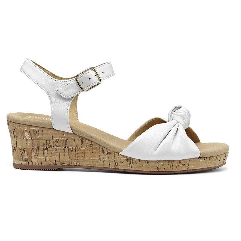 1950s Shoe Styles: Heels, Flats, Sandals, Saddle Shoes Palmas Wedges - White Standard Fit 11 $115.00 AT vintagedancer.com