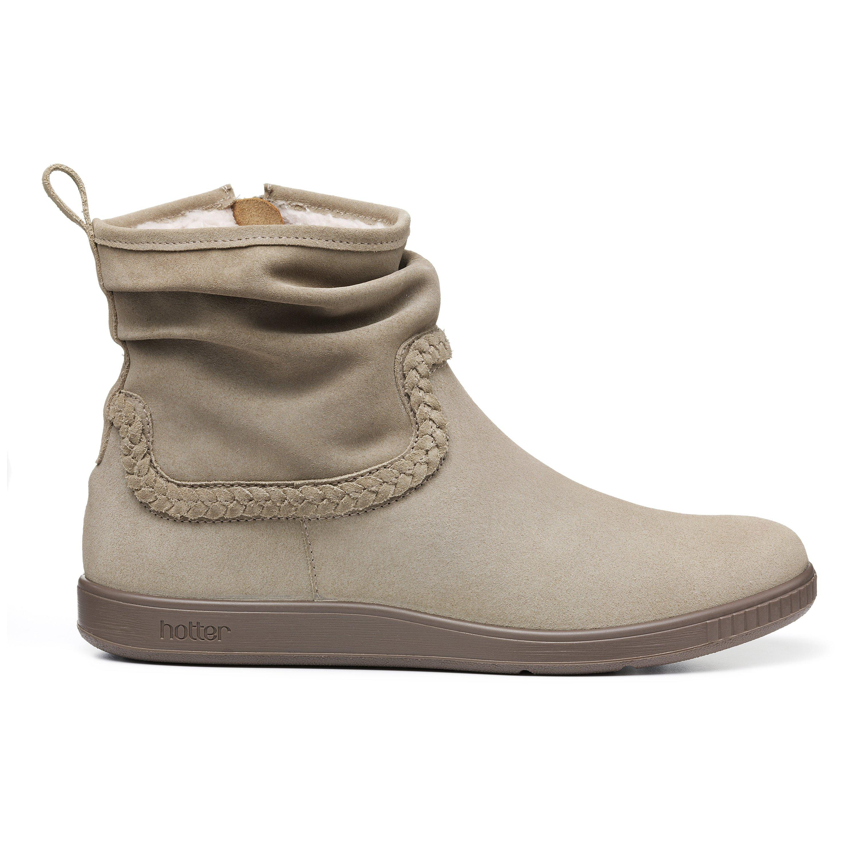 80s Shoes, Sneakers, Jelly flats  1980s Shoes Pixie II Boots - Taupe Wide Fit 11 $159.00 AT vintagedancer.com