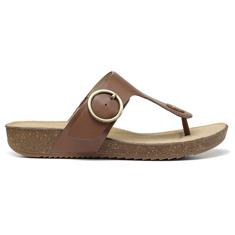 Vintage Sandals | Wedges, Espadrilles – 30s, 40s, 50s, 60s, 70s Resort Sandals - Dark Tan Slim Fit 11 $119.00 AT vintagedancer.com