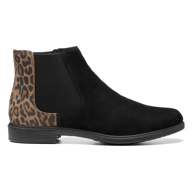 60s Shoes, Boots Tenby Boots - Black  Leopard Standard Fit 11 $145.00 AT vintagedancer.com