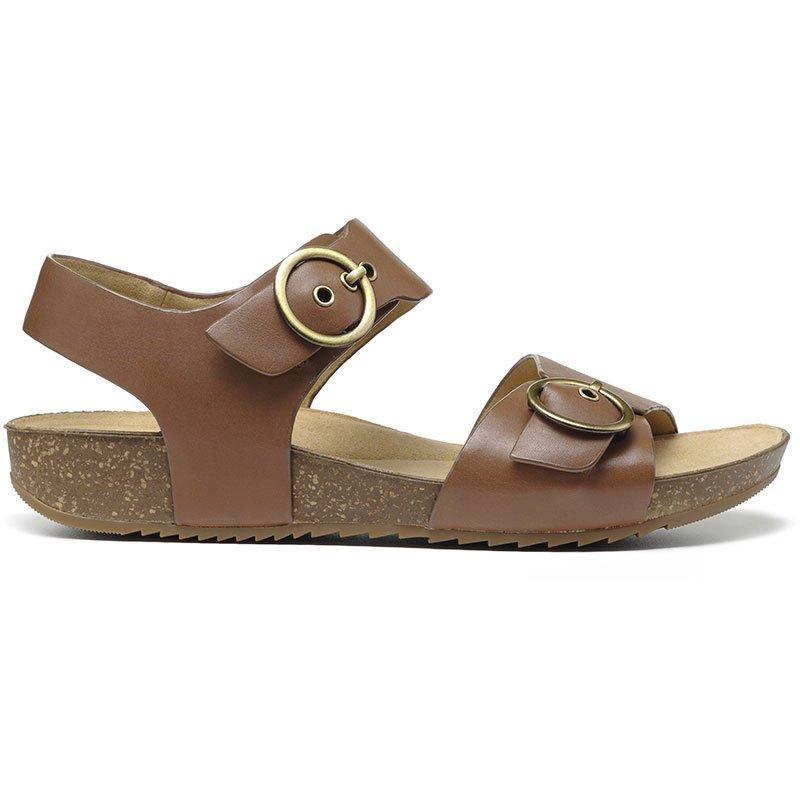 60s Shoes, Boots Tourist Sandals - Dark Tan Standard Fit 11 $119.00 AT vintagedancer.com