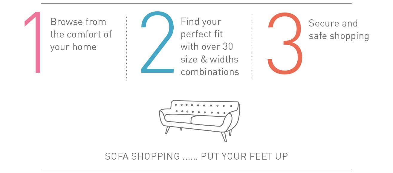 Browse from the comfort of your home.  Find your perfect fit.  Secure & safe shipping.