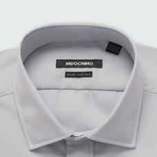 Gray shirt - HELSTON Solid Design from Premium Indochino Collection