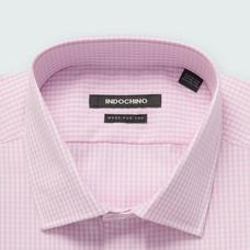Pink shirt - Helston Checked Design from Premium Indochino Collection
