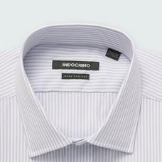 Gray shirt - Helston Striped Design from Premium Indochino Collection