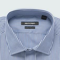 Blue shirt - Helston Striped Design from Premium Indochino Collection
