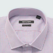 Blue shirt - Helston Checked Design from Premium Indochino Collection