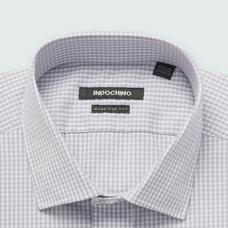 Gray shirt - HELSTON Checked Design from Premium Indochino Collection