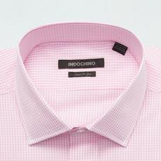 Pink shirt - HARLOW Checked Design from Premium Indochino Collection