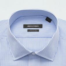 Blue shirt - Harlow Checked Design from Premium Indochino Collection