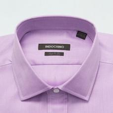Purple shirt - HATFIELD Herringbone Design from Premium Indochino Collection
