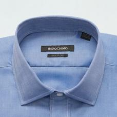 Blue shirt - HATFIELD Herringbone Design from Premium Indochino Collection