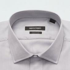 Gray shirt - HATFIELD Herringbone Design from Premium Indochino Collection
